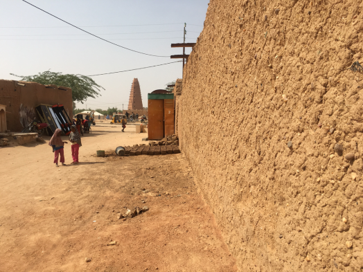 The minaret of Agadez in the background. Tomás Pastor