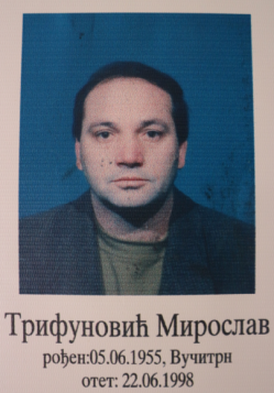 Miroslav Trifunoviç, missing persons photo. North of Mitrovica. Marisa López